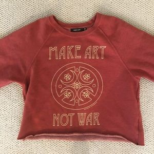 Obey Pullover Crewneck Sweatshirt Make Art Not War